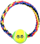 Dog Round Rope & Tug Toy with Tennis Ball