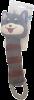 Grey Striped Cat Plush Toy